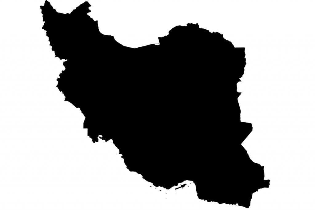 ماسک word cloud به شکل نقشهی ایران