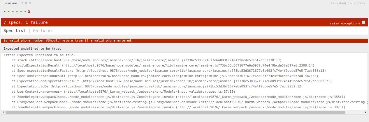 شروع Test driven development با انگولار شکست اولین تست