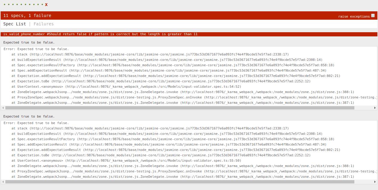 اولین تجربه TDD با انگولار fail شدن unit test